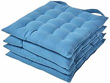 HOMESCAPES Air Force Blue Seat Pads for Dining