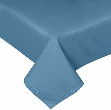 HOMESCAPES Airforce Blue Cotton Tablecloth 4