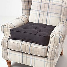 HOMESCAPES Black Armchair Booster Cushion Large