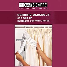 HOMESCAPES Blackout Thermal Curtain Lining Pair