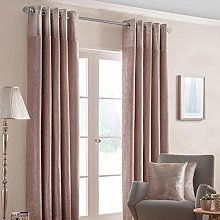 HOMESCAPES Blush Pink Curtains 117 x 183cm (46 x