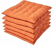 HOMESCAPES Burnt Orange Seat Pads for Dining
