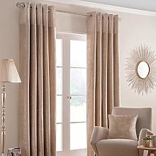 HOMESCAPES Champagne Curtains 117 x 183cm (46 x