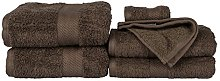 HOMESCAPES Chestnut Brown Luxury 6 Piece Towel