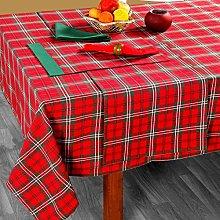 HOMESCAPES Christmas Tablecloth Edward Tartan