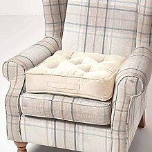 HOMESCAPES Cream Armchair Booster Cushion Large