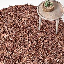 HOMESCAPES - Dallas - Brown - 150cm Round - Modern
