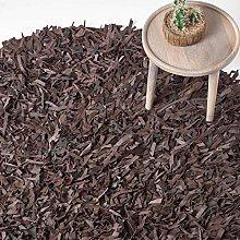 HOMESCAPES - Dallas - Chocolate - 150cm Round -