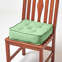 HOMESCAPES Dark Green Dining Chair Booster Cushion