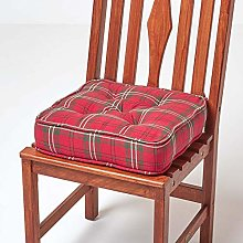 HOMESCAPES Dining & Garden Chair Booster Cushion,
