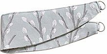 HOMESCAPES Duck Egg Blue Curtain Tie Back Pair