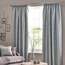 HOMESCAPES Duck Egg Blue Fully Lined Curtains 117