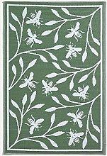 HOMESCAPES Green Outdoor Rug for Garden or Patio