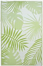 HOMESCAPES Green Tropical Leaf Indoor & Outdoor
