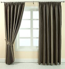 HOMESCAPES Grey and Silver Pencil Pleat Curtain