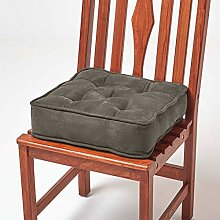 HOMESCAPES Grey Dining Chair Booster Cushion Large