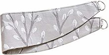 HOMESCAPES Light Grey Curtain Tie Back Pair