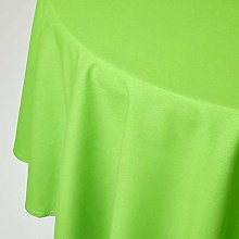 HOMESCAPES Lime Green Cotton Round Tablecloth 6 to