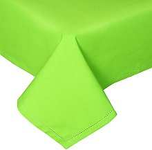 HOMESCAPES Lime Green Cotton Tablecloth 4 Seater
