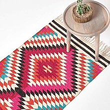 HOMESCAPES Manila Handwoven Kilim Wool Rug with