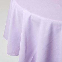HOMESCAPES Mauve Cotton Round Tablecloth 6 to 8