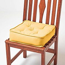 HOMESCAPES Mustard Dining Chair Booster Cushion