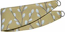 HOMESCAPES Mustard Yellow Curtain Tie Back Pair