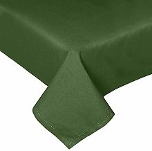 HOMESCAPES Olive Green Cotton Tablecloth 6 to 8