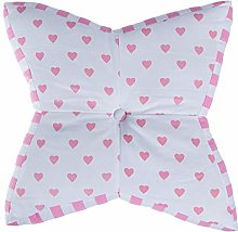 HOMESCAPES Pink and White Star Floor Cushion Large