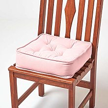 HOMESCAPES Pink Dining Chair Booster Cushion Large