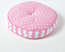 HOMESCAPES Pink Round Floor Cushion Large