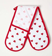 Homescapes - Pure Cotton Double Oven Glove -