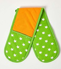 HOMESCAPES - Pure Cotton Double Oven Glove - Stars