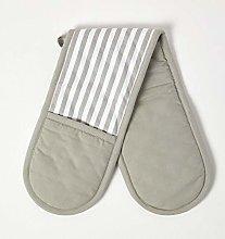 HOMESCAPES - Pure Cotton Double Oven Glove - Thin