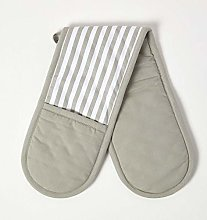 Homescapes - Pure Cotton Double Oven Glove - Thin
