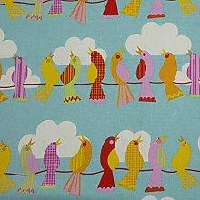 HOMESCAPES Pure Cotton Furnishing Fabric - Birds