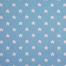 HOMESCAPES Pure Cotton Furnishing Fabric - Stars -
