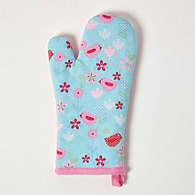 HOMESCAPES - Pure Cotton Oven Glove - Birds and