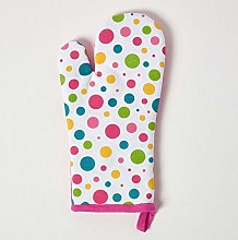 Homescapes - Pure Cotton Oven Glove - Polka Dot