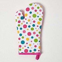 HOMESCAPES - Pure Cotton Oven Glove - Polka Dot