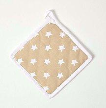 HOMESCAPES - Pure Cotton Pot Holder - Stars -