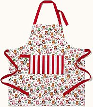 Homescapes - Pure Cotton Unisex Apron with Pocket