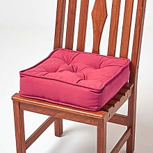 HOMESCAPES Red Dining Chair Booster Cushion Large
