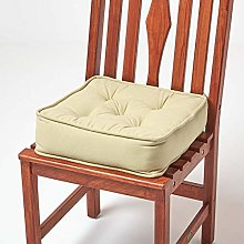 HOMESCAPES Sage Green Dining Chair Booster Cushion