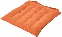 HOMESCAPES - Seat Pad -Burnt Orange - 40 x 40 cm -