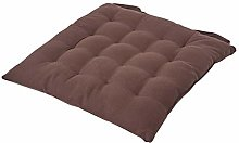 HOMESCAPES - Seat Pad - Chocolate Brown - 40 x 40