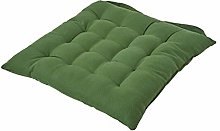 HOMESCAPES - Seat Pad - Dark Olive Green - 40 x 40