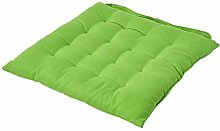 HOMESCAPES - Seat Pad - Lime Green - 40 x 40 cm -