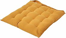HOMESCAPES - Seat Pad - Mustard Yellow - 40 x 40