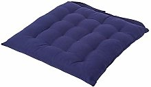 HOMESCAPES - Seat Pad - Navy Blue - 40 x 40 cm -